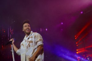 "Prince Royce sings crowd favorite ""Stand By Me"" at the MLS All-Star Concert. Photo: Leyton Blackwell/Florida National News."