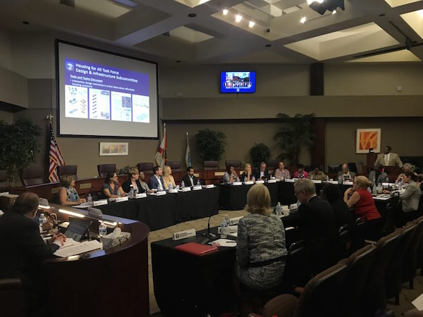 Orange County's Housing for All Task Force held its introductory meeting on April 12, 2019 at the Board of County Commissioner Chambers. Photo: Orange County Government.