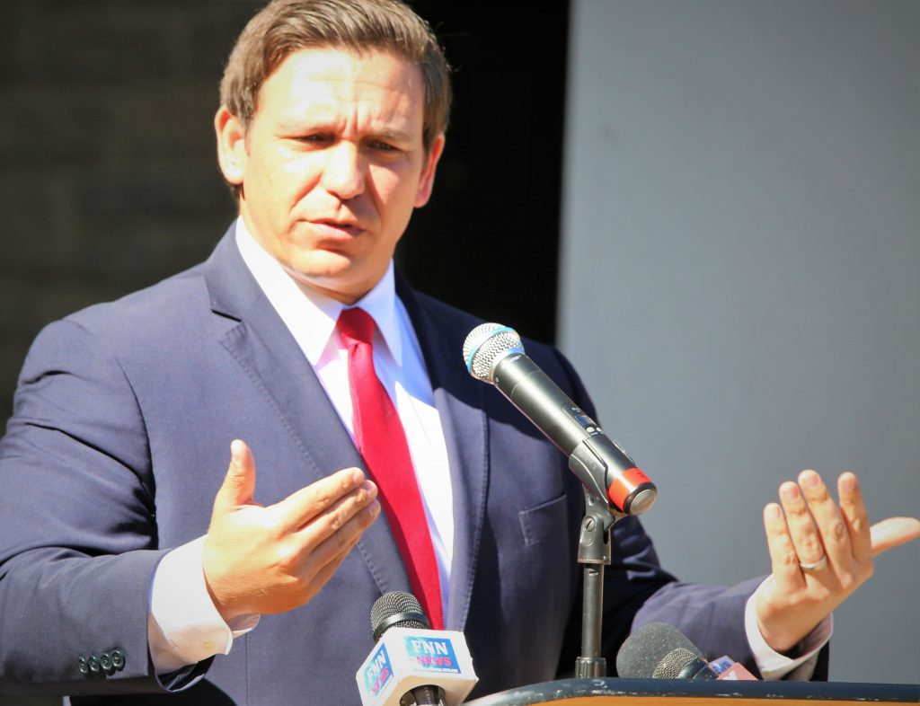 FILE - Florida Governor Ron DeSantis speaks at MLK event in Winter Park. (Photo by Willie David / Florida National News File)