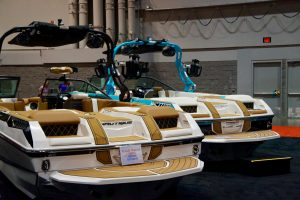 More boats on display at the Orlando Boat Show. Photo: Leyton Blackwell/Florida National News.