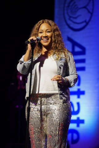 Erica Campbell sang her heart out during the Black & Positively Golden Presents Inspiration & Celebration Gospel Tour for the 2019 Allstate Tom Joyner Family Reunion at the Gaylord Palms Resort & Convention Center. Photo: J&K Photography.