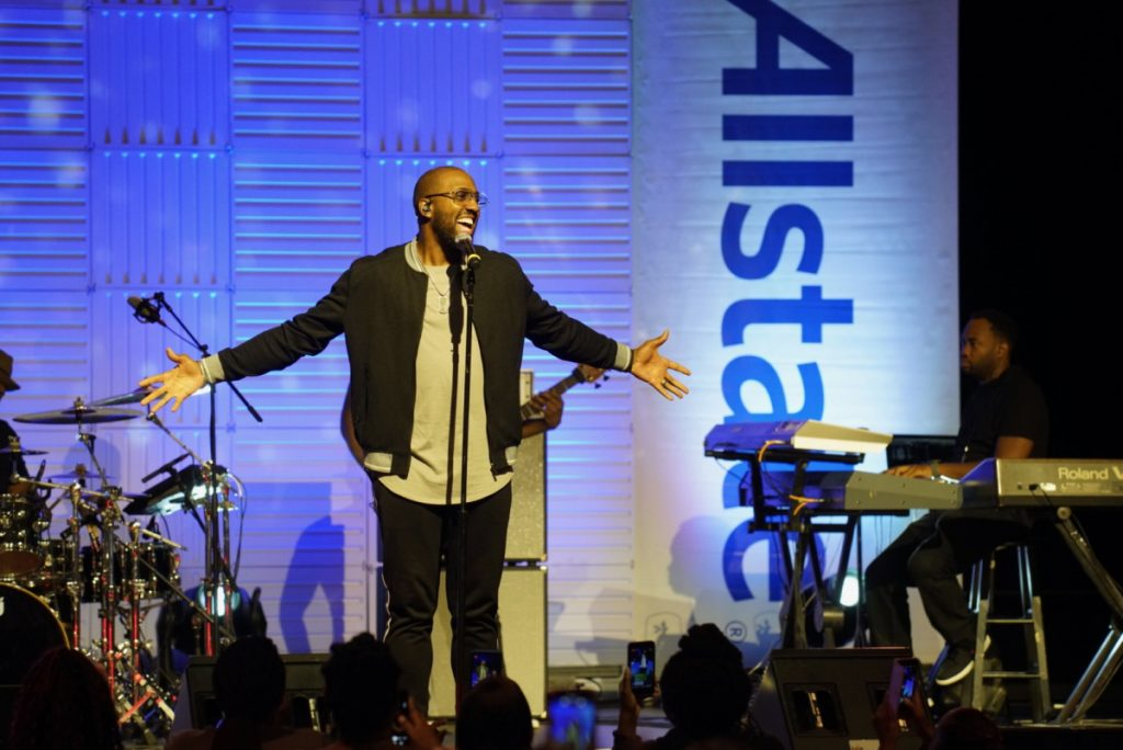 Isaac Caree performed a great set during the Black & Positively Golden Presents Inspiration & Celebration Gospel Tour for the 2019 Allstate Tom Joyner Family Reunion at the Gaylord Palms Resort & Convention Center. Photo: J&K Photography.