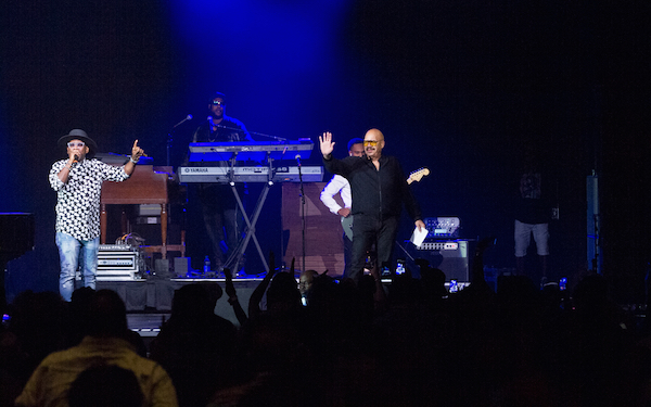Tom Joyner graced the stage during the AARP Grown Folks Night for the 2019 Allstate Tom Joyner Family Reunion at the Gaylord Palms Resort & Convention Center. Photo: Rance Elgin.