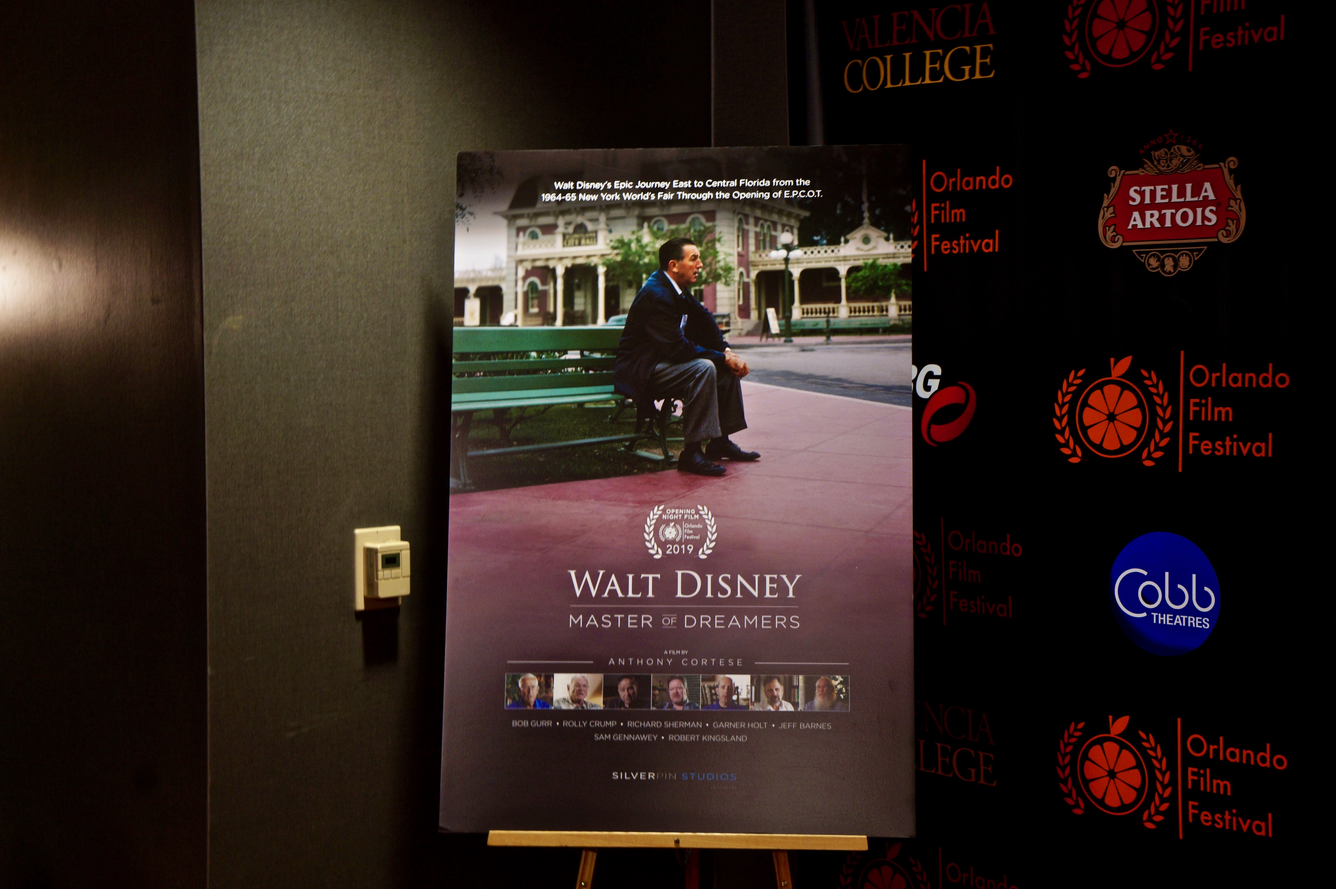 'Walt Disney - Master of Dreamers: The Road to Epcot' documentary poster at Orlando Film Festival Thursday, October 17, 2019. Photo: Leyton Blackwell/Florida National News.