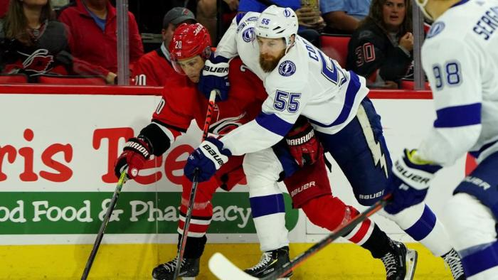 The Carolina Hurricanes overpowered the Tampa Bay Lightning at PNC Arena Sunday, October 6, 2019. Photo: NHL.