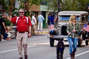 Orlando Mayor Buddy Dyer walks in the Veterans Day Parade. Photo: Leyton Blackwell/Florida National News.