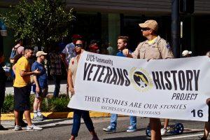 UCF Veterans History Project participating in the parade. Photo: Leyton Blackwell/Florida National News.