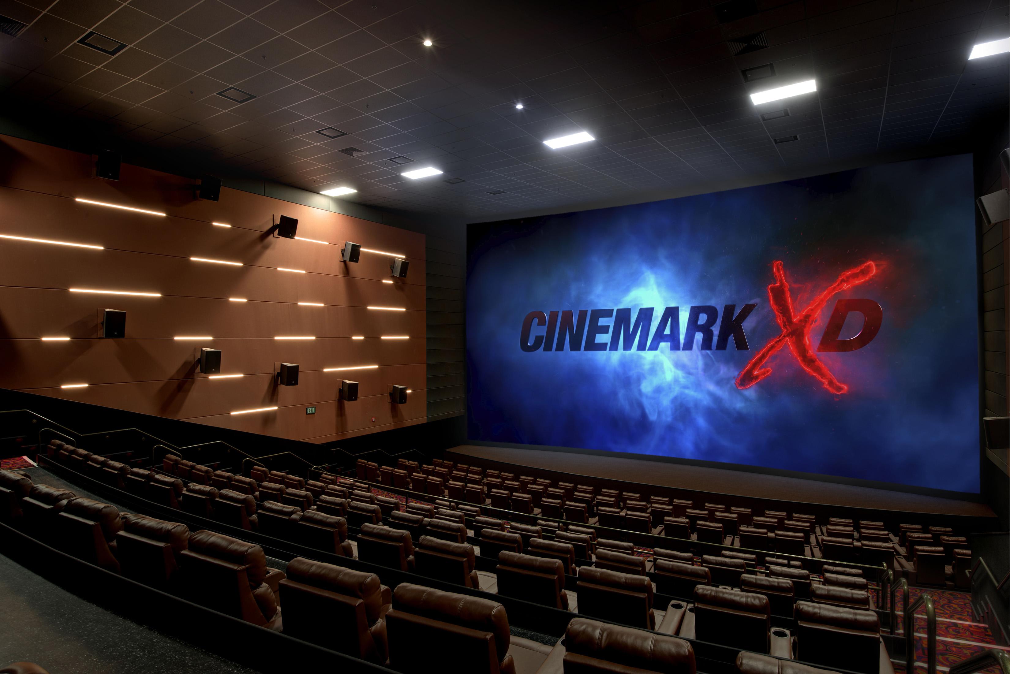 Universal Cinemark has plush seating and a new Cinemark XD Auditorium. Photo: Universal Orlando Resort.
