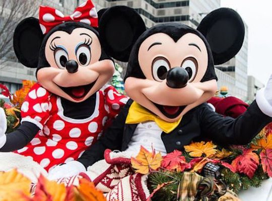 MIckey and Minnie Mouse pose for pictures at Walt Disney World Resort in Orlando, Florida. Photo: Getty Images.
