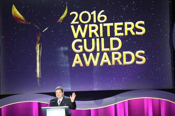 FILE - Actor-writer-comedian Patton Oswalt (Veep, Justified), hosts the 2016 WGAW's West Coast ceremony Saturday, February 13, 2016 at the Hyatt Regency Century Plaza in Los Angeles. Photo: Willie David/Florida National News file photo.