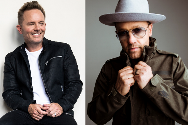Stellar and Dove Award winners Chris Tomlin (left) and TobyMac join a full roster of Contemporary Christian stars for Rock the Universe at Universal Orlando January 24-25, 2020. Photos courtesy of Universal.