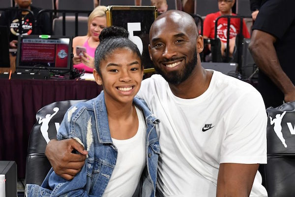 Kobe Bryant and his 13-year-old daughter Gianni Bryant attend the 2019 WNBA All-Star Game 2019 at the Mandalay Bay Events Center on July 27, 2019 in Las Vegas, Nevada. Photo: Ethan Miller/Getty Images.