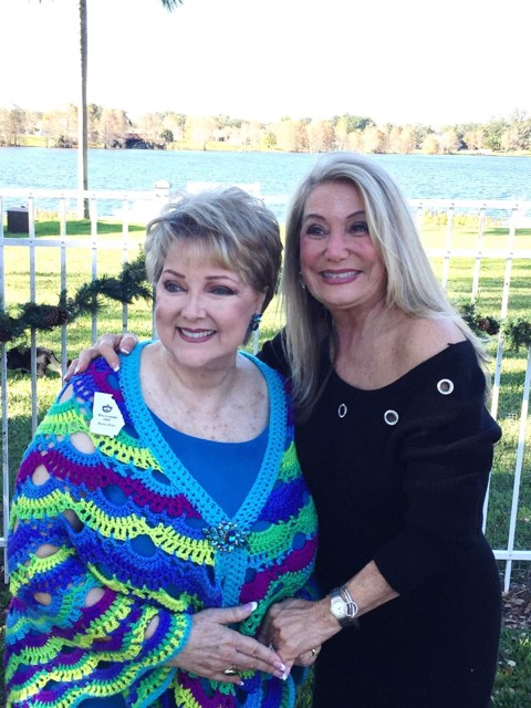 Liz Sheppard (right) with Burma Posey, Miss Georgia 1968. Photo courtesy Liz Sheppard's Facebook page.