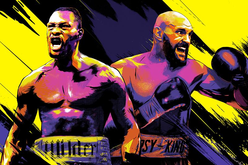 Wilder will face Fury in Las Vegas Saturday night. Artwork courtesy of www.mmamicks.com.