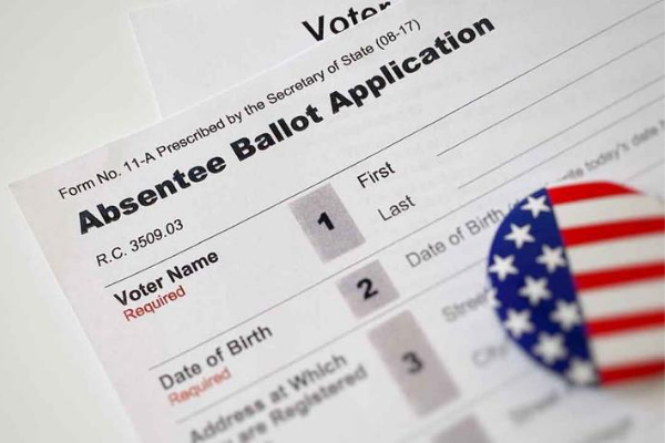 Absentee ballot application. Image via News9.