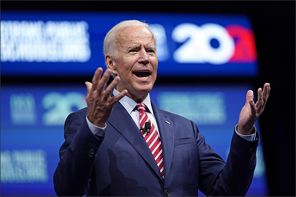 Joe Biden, Democratic Presidential Nominee, speaking in Houston.