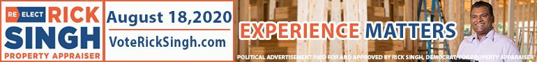 Rick Singh for Orange County Property Appraiser ad banner