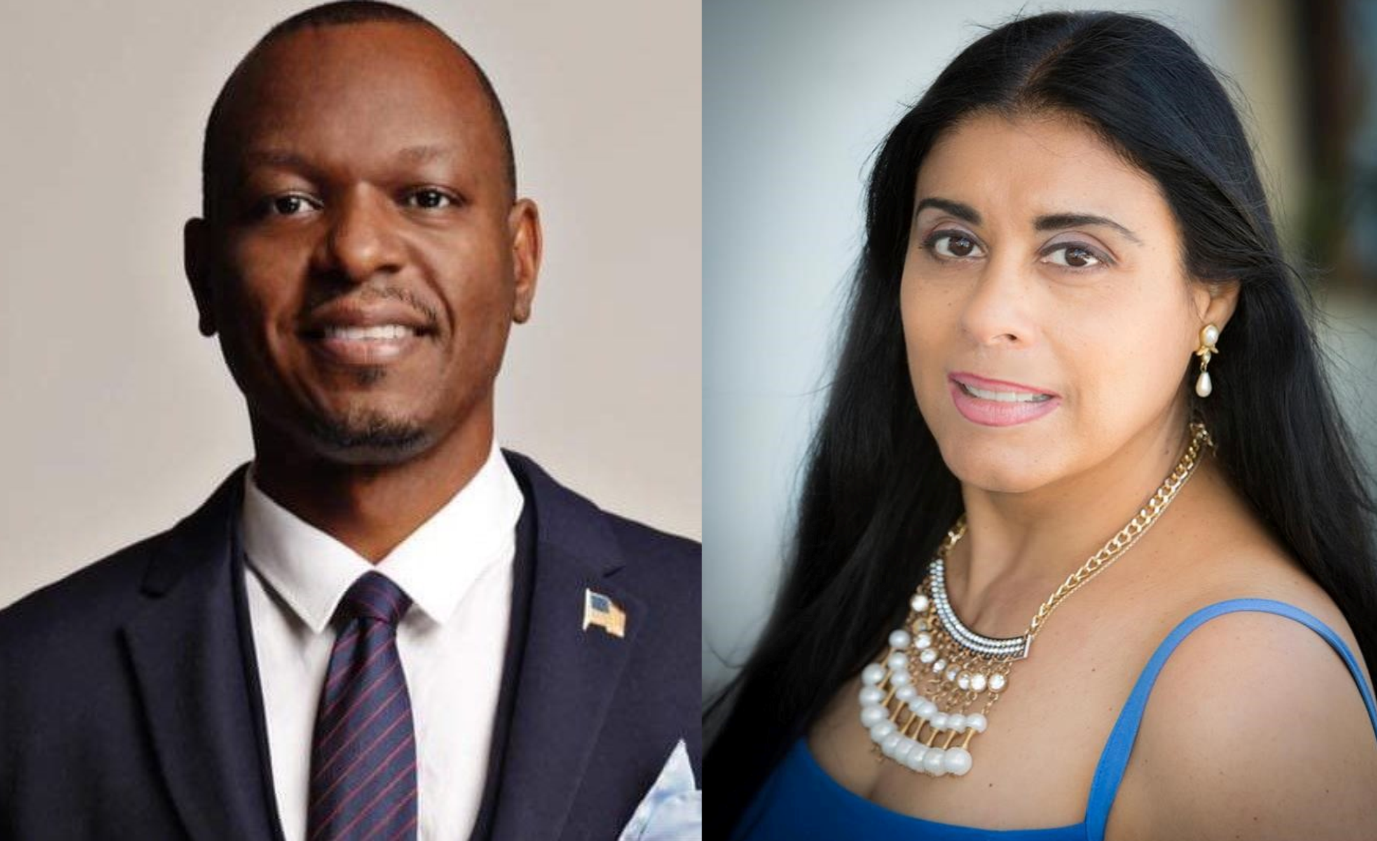 State Senator Randolph Bracy (left) and Orange Soil & Water Conservation District Supervisor and Florida House District 48 Democratic nominee Daisy Morales. Photos used with permission.