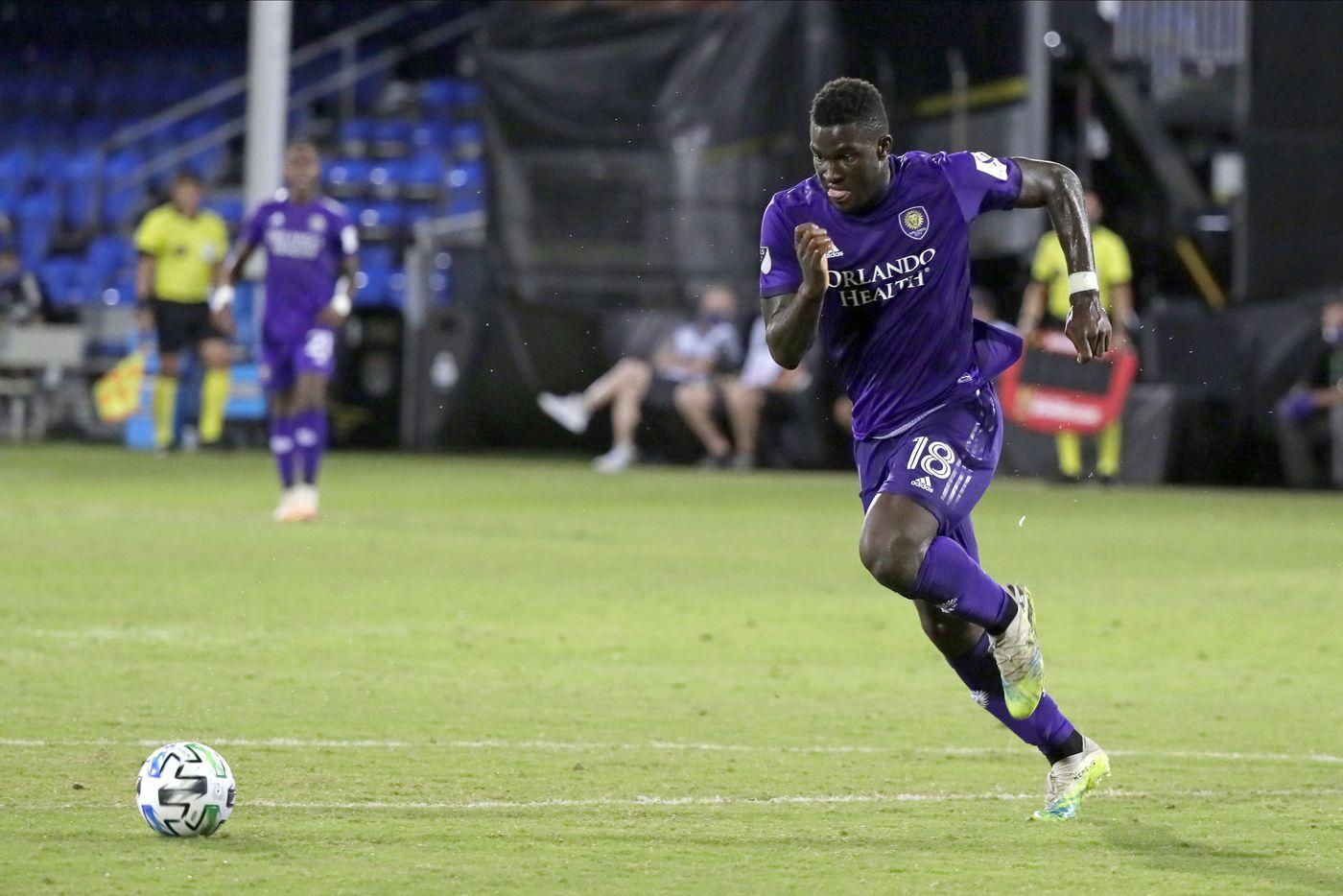 Orlando City SC forward Daryl Dike. Photo: Orlando Sentinel.