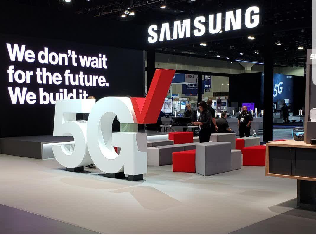 Samsung and Verizon booth. Image via TechSpot.