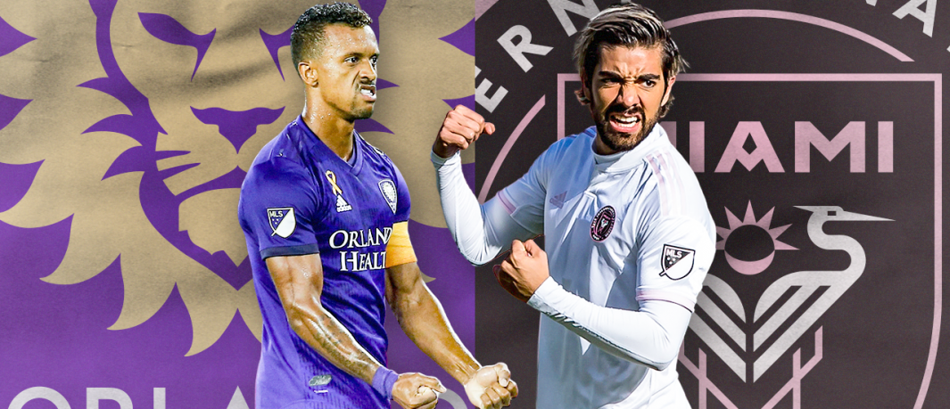 Orlando City SC Lions fell to Inter Miami CF Saturday. Collage via MLS.