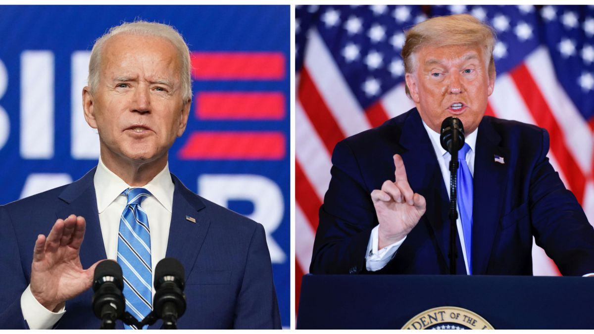 Former Vice President Joe Biden (left) and President Donald Trump. Image via AS English.