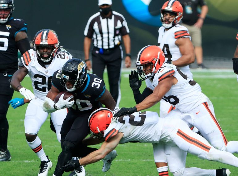 The Cleveland Browns dominated the Jacksonville Jaguars at TIAA Bank Field Sunday, November 29, 2020. Photo: Getty Images.