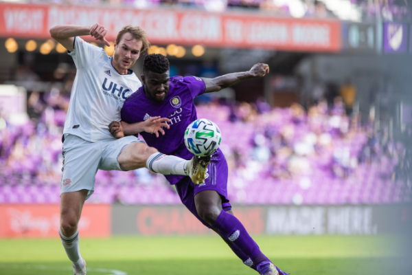 New England Revolution dominated Orlando City SC in the Audi MLS Cup Semifinal at Exploria Stadium Sunday, November 29, 2020. Photo: Orlando City SC.