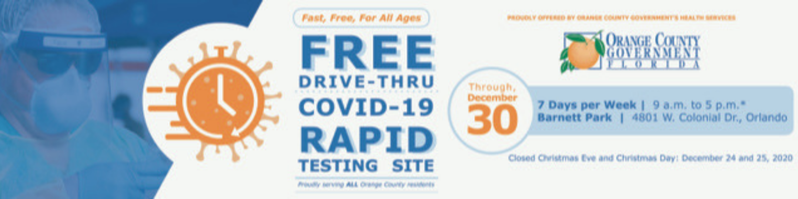 To learn more about Orange County's free COVID-19 testing, visit www.ocfl.net/testing.