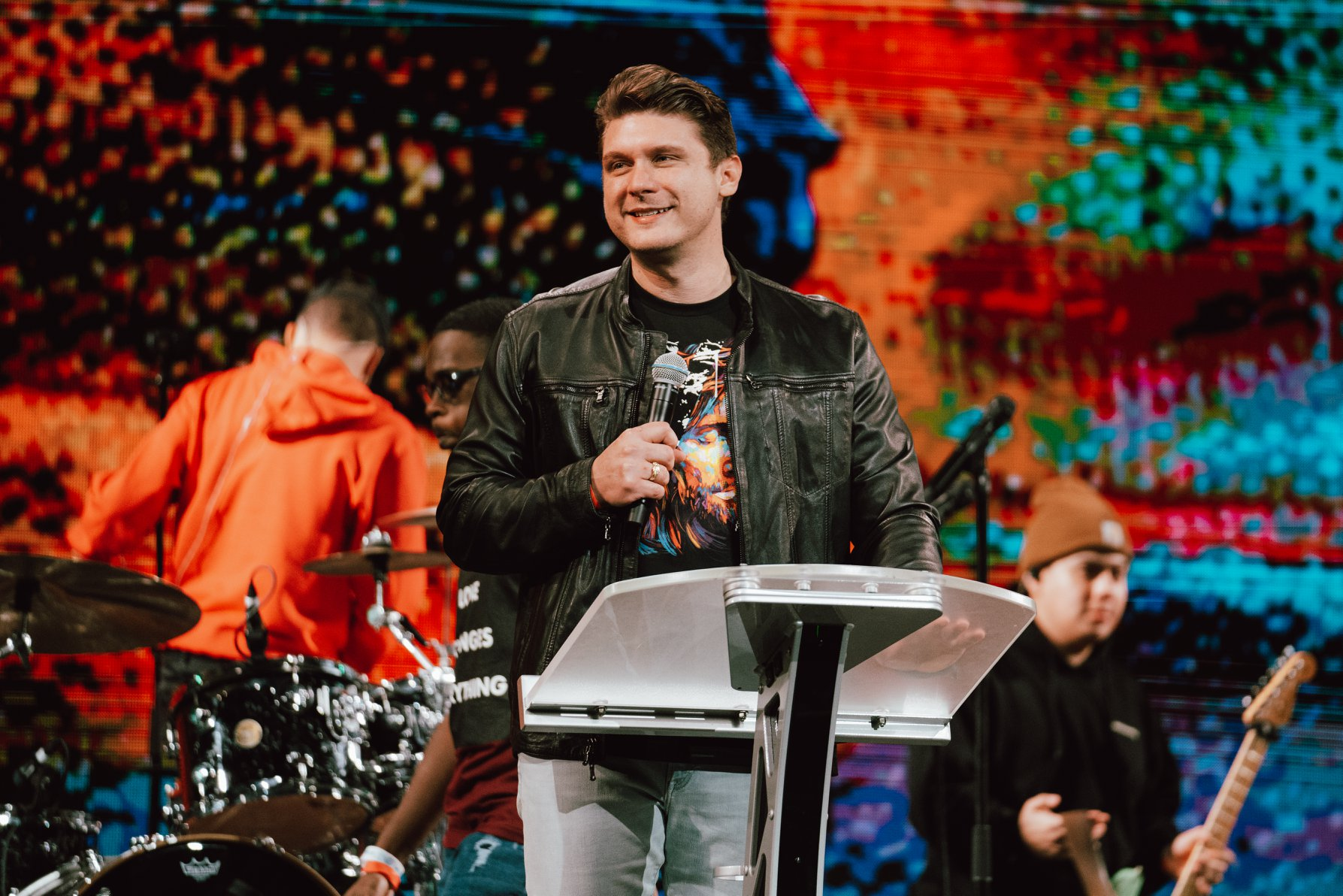 Christ for All Nations President Daniel Kolenda announces his new ministry, Nations Church, during the Fire21 conference in Orlando, Florida. Photo: LaTanya Newell.