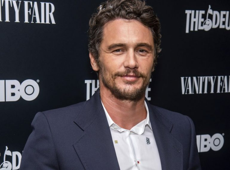 """FILE - This Sept. 5, 2019 file photo shows James Franco at the premiere of HBO's """"The Deuce"""" third and final season in New York. A settlement deal has been reached in a lawsuit that alleged James Franco intimidated students at an acting and film school he founded into exploitative sexual situations. A filing in Los Angeles Superior Court said a settlement had been reached in the class-action suit brought by former students at the now-defunct Studio 4. The document was filed on Feb. 11, but has not previously been reported. (Charles Sykes/Invision/AP, File)"""