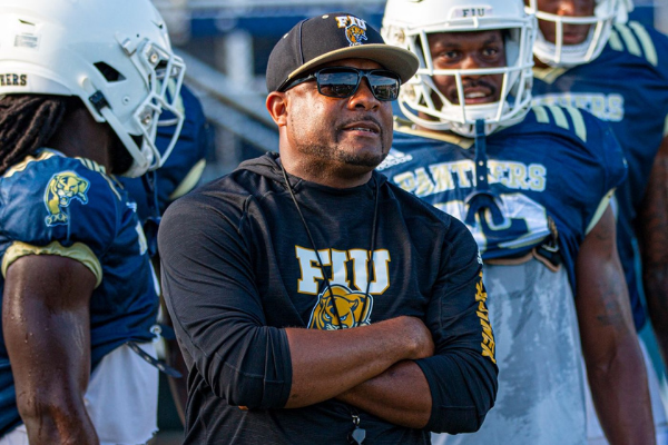 Tim Harris, Jr. joins UCF football from FIU. Photo: Joe Hauserman for FIU Athletics.