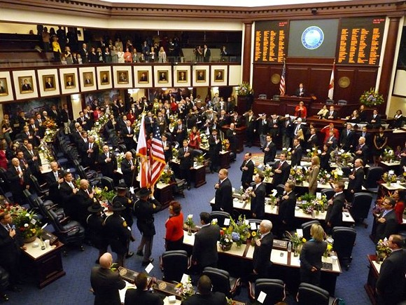 The Florida House Representatives in the House Chambers. Photo: Florida House of Representatives.