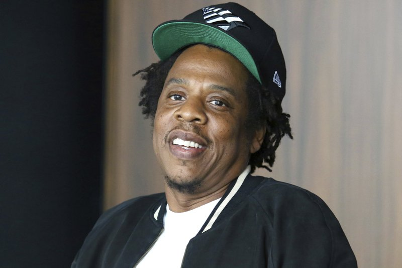 FILE - In this July 23, 2019, file photo, Jay-Z makes an announcement of the launch of Dream Chasers record label in joint venture with Roc Nation, at the Roc Nation headquarters in New York. Financial technology company Square, Inc. says it has reached an agreement to acquire majority ownership of Tidal, the music streaming service partly owned by Jay-Z. (Photo by Greg Allen/Invision/AP, File)