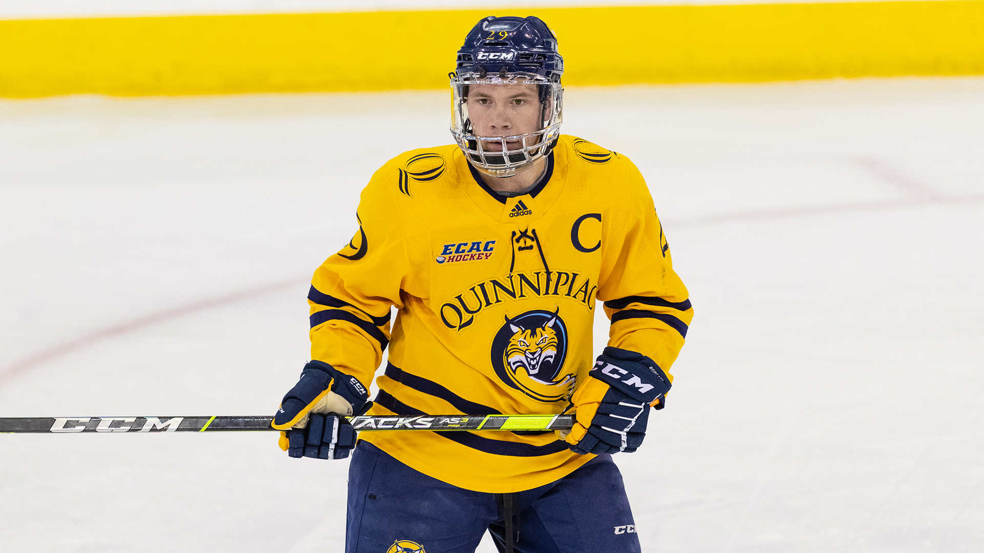 Odeen Tufto played for Quinnipiac before signing with the Tampa Bay Lightning. Photo: Quinnipiac Athletics.
