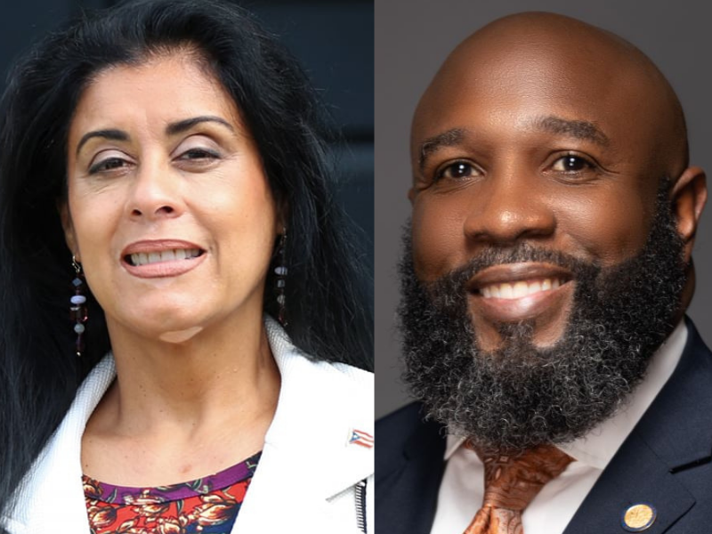 State Representatives Daisy Morales (left) and Christopher Benjamin. Images: State Rep. Daisy Morales (via Facebook) and the Florida House of Representatives, respectively.