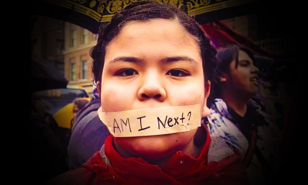 An indigenous woman raises awareness of the plight of Missing and Murdered Indigenous Women and Girls (MMIWG). Photo courtesy of Gospel for Asia via MissionsBox.org.