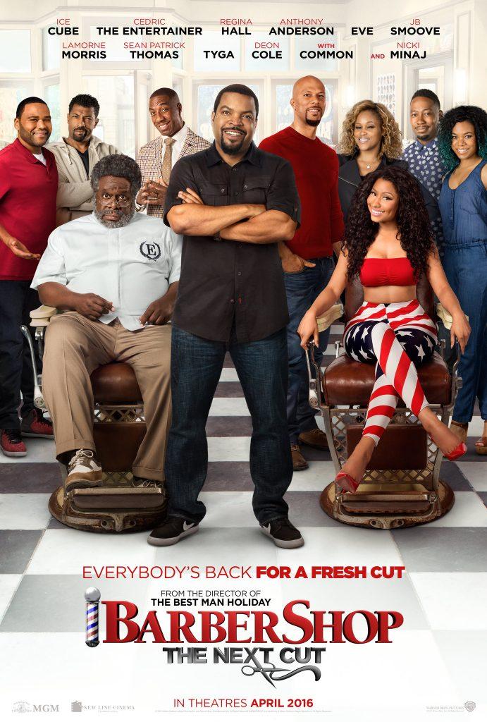 """Barbershop: The Next Cut"" film poster. Image: MGM Studios."