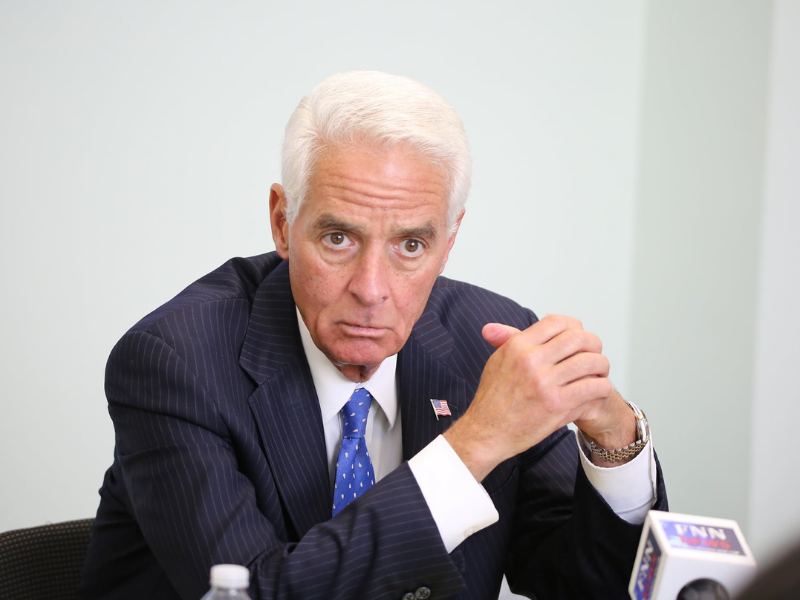 FILE - Congressman and Florida gubernatorial candidate Charlie Crist listens as Hispanic and black community leaders share their voting concerns during the Orlando stop on his statewide Voting Rights Tour Monday, June 8, 2021. File photo: Willie David/Florida National News.