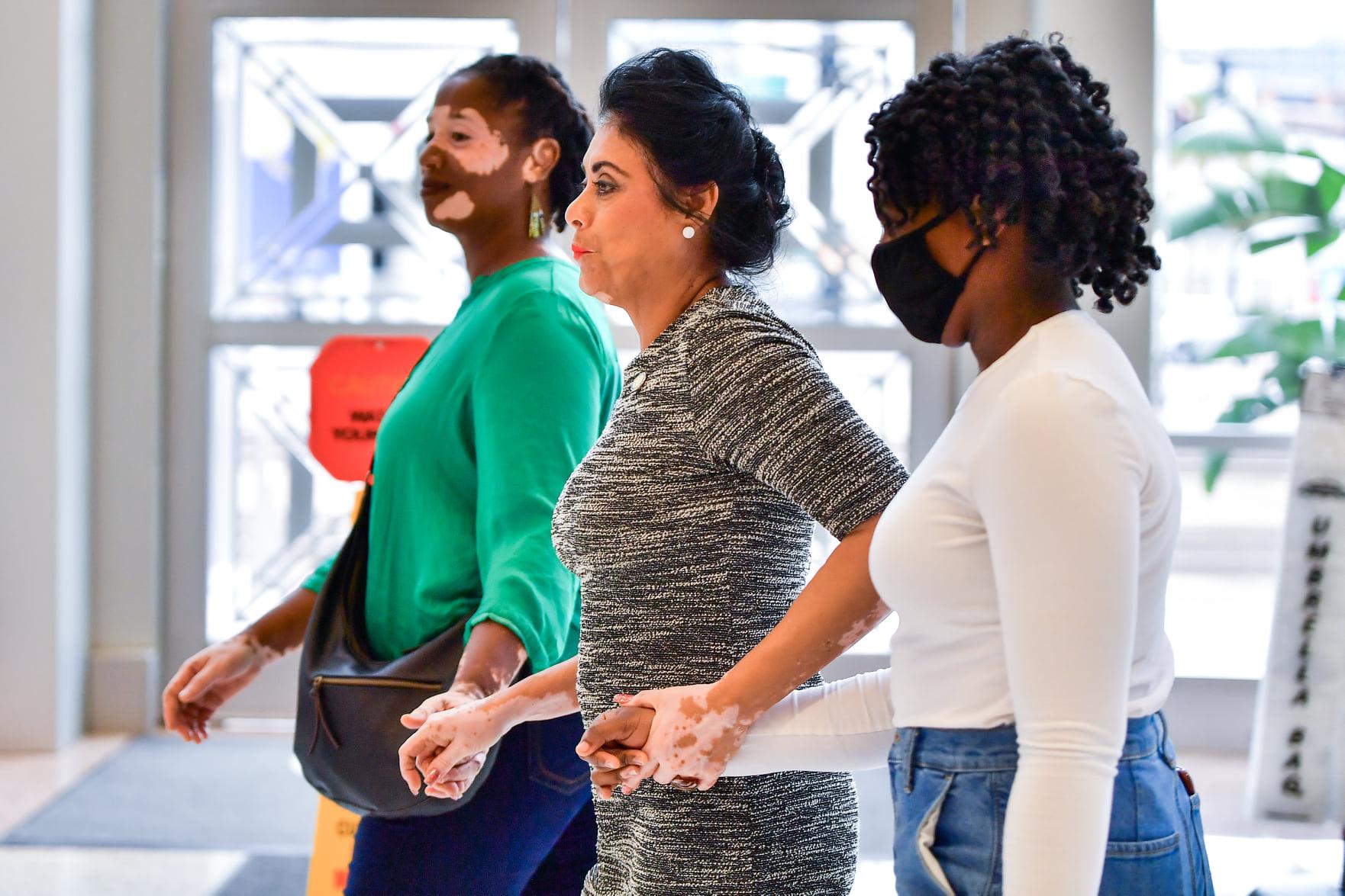 Florida State Representative Daisy Morales (center) hosts her 2021 World Vitiligo Day Celebration at Orlando City Hall, Friday, June 25, 2021. (Photo by Harry Castiblanco/Florida National News)