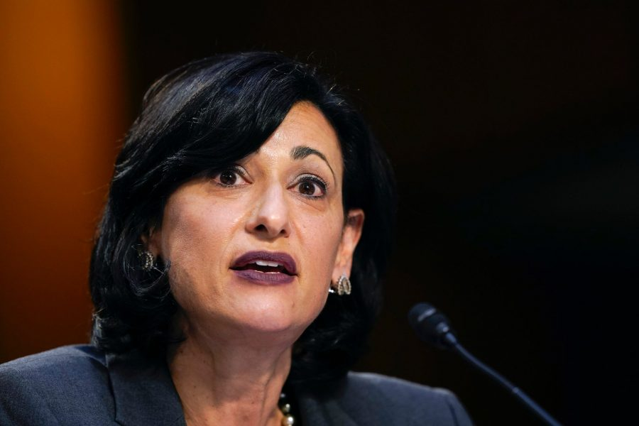 US CDC Director Dr. Rochelle Walensky delivers a COVID-19 press briefing. Photo: Getty Images.