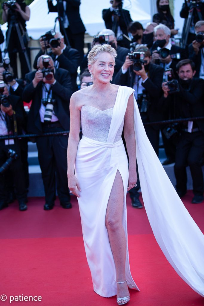 Sharon Stone wows in her Dolce & Gabbana dress on the final night of the 2021 Cannes Film Festival. Photo: Patience Eding/Another Concept for Florida National News.