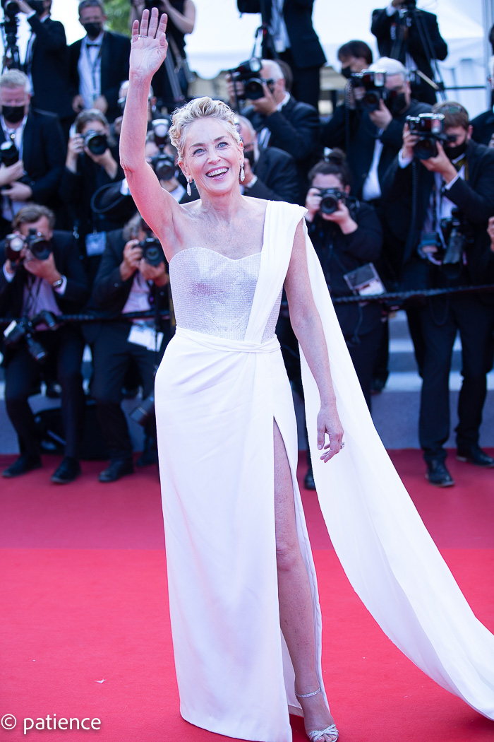 Sharon Stone wows in Dolce & Gabbana on the final night of the 2021 Cannes Film Festival. Photo: Patience Eding/Another Concept for Florida National News.