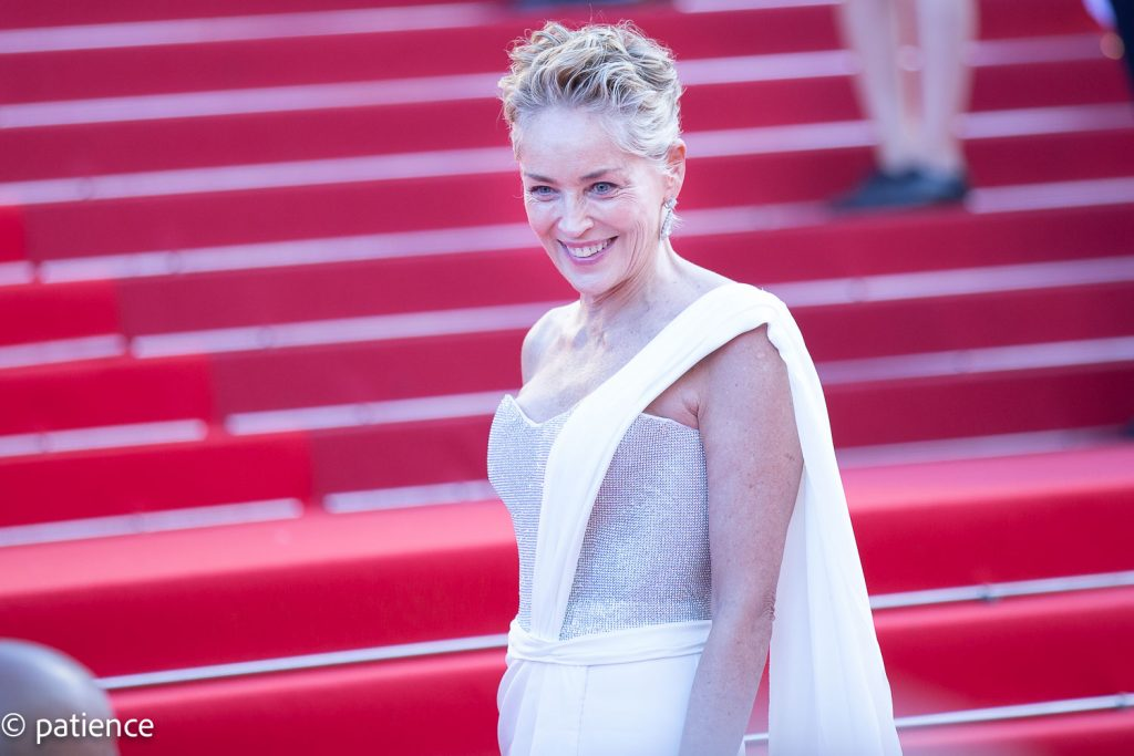 Sharon Stone on the final night of the 2021 Cannes Film Festival. Photo: Patience Eding/Another Concept for Florida National News.