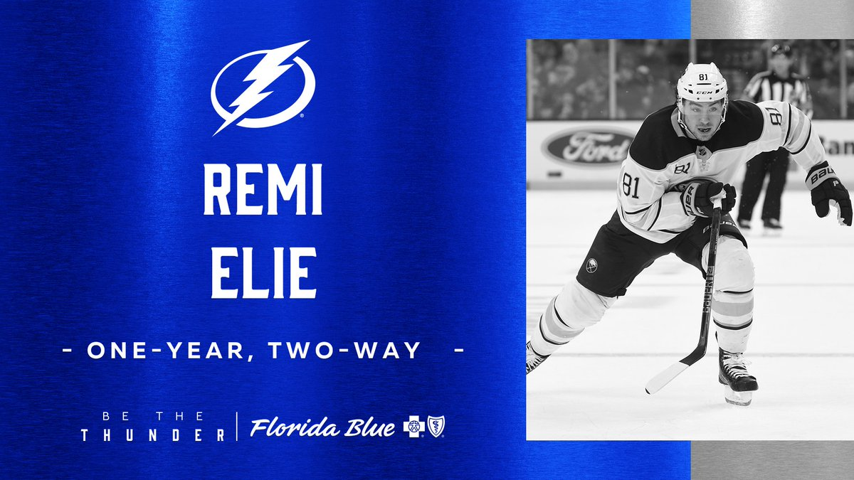 Remi Elie signs with the Tampa Bay Lightning. Image: NHL.