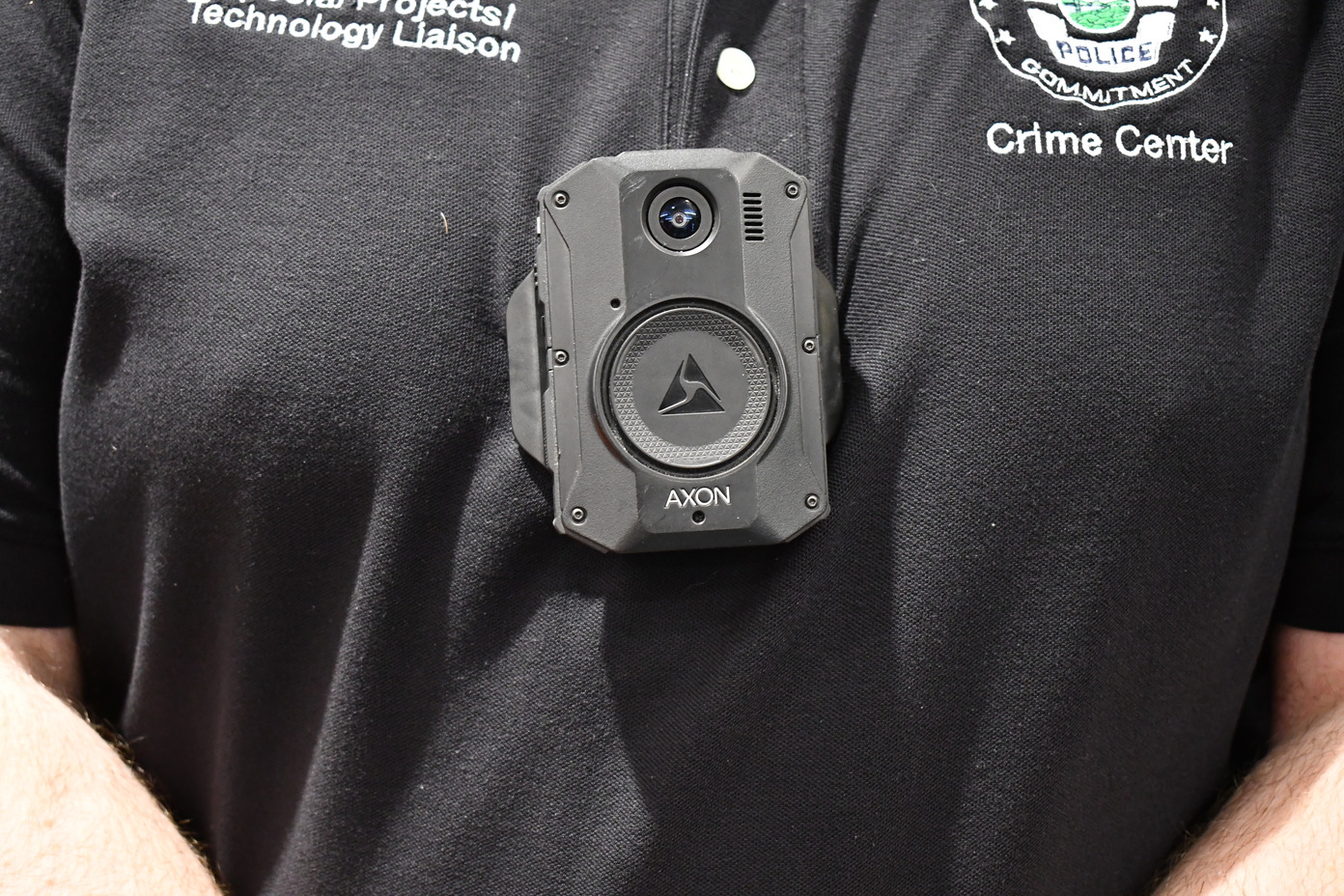 The new Axon 3 body cam, issued to the Orlando Police department. Photo: Juan Carlo Rodriguez/Florida National News.