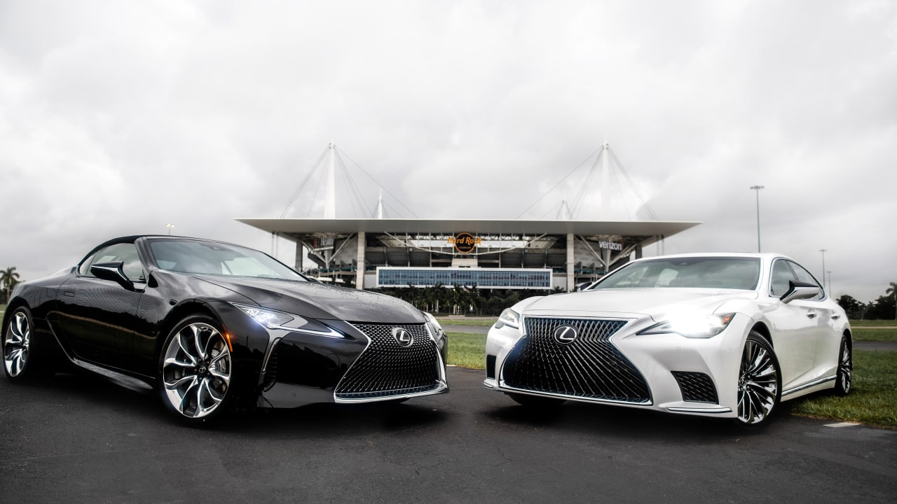 Lexus partners with the Miami Dolphins. Photo courtesy of the Miami Dolphins.