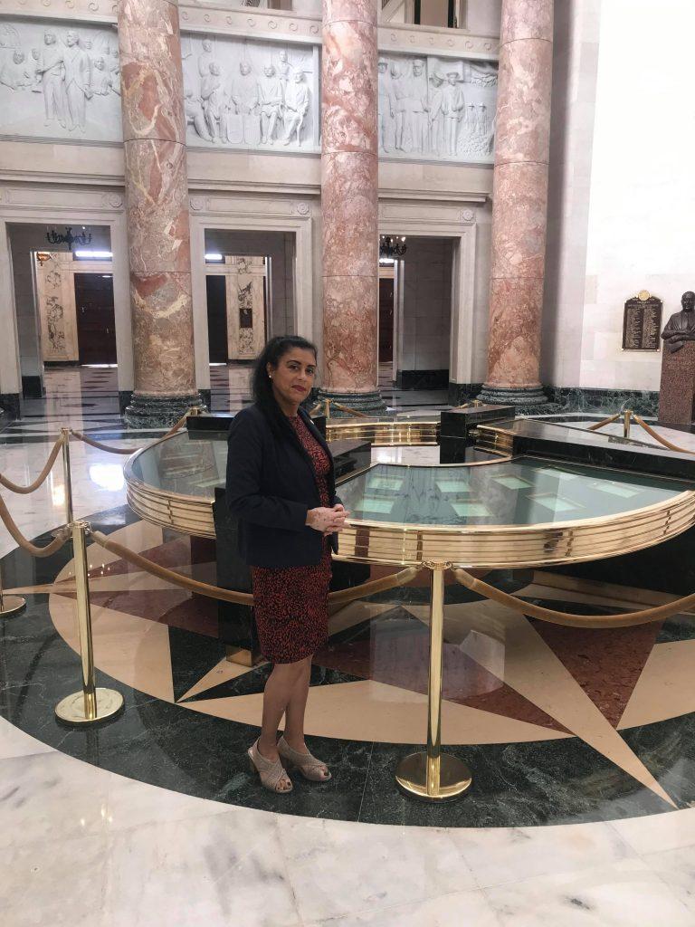 State Representative Daisy Morales poses for a photo in Puerto Rico's Capitol. Photo courtesy of State Representative Daisy Morales (Facebook).