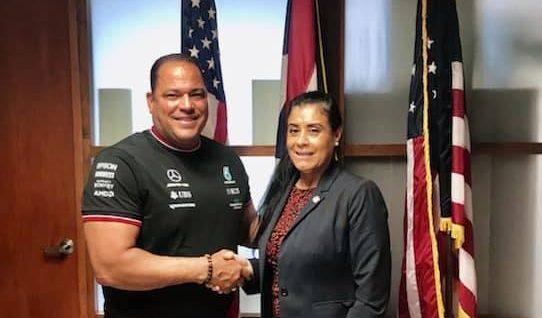 Rep. Morales meets with Puerto Rico's Senator Carmelo Javier Ríos ahead of Florida's 2022 Legislative Session. Photo courtesy of State Representative Daisy Morales (Facebook).