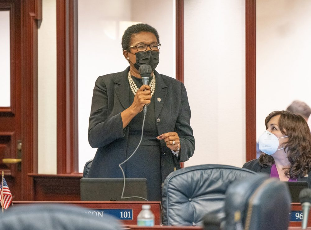 State Rep. Marie Woodson speaks on the floor of the Florida House. Photo: Florida House of Representatives.